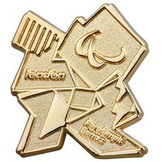 London 2012 Paralympic gold logo pin badge  Product code: 30060612  £6.00