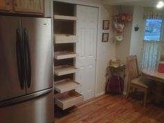 Need a place to put your mail? Pull out shelving in your kitchen can have thousands of uses