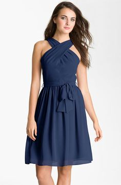 Donna Morgan Crisscross Chiffon Dress | Nordstrom