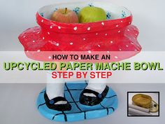 Tutorial DIY Upcycled paper mache bOWL Home decor by RecycoolArt