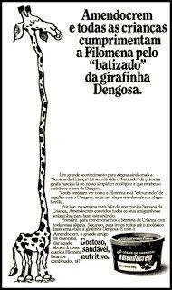 Anúncio Amendocrem - 1977