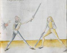 Lecküchner, Hans: Kunst des Messerfechtens Nordbayern, 1482 Cgm 582 Folio 69