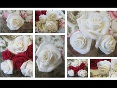 DIY Gorgeous Fabric Roses- Easy to Make  https://www.youtube.com/watch?v=axFE1GAmJVY