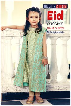 Origins Kids fashion of Frocks - Shalwar Kameez - Tops - Jeans - Kurta Shalwar Fashion For Eid ul azha 2020 with new summer touch. Origins Kids eid collection by newfashionelle. Wedding Dresses For Kids, Dresses Kids Girl, Kids Outfits, Baby Dresses, Summer Outfits, Kids Dress Wear, Party Wear Dresses, Eid Dresses, Kids Wear