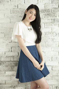 Picture of Ayaka Miyoshi Japanese Sexy, Japanese Models, Asian Woman, Asian Girl, Girl Outfits, Fashion Outfits, Stylish Tops, Beautiful Asian Women, Asian Beauty
