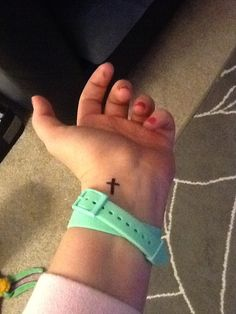 Small tattoo but says BIG things #ibeleiveinGod