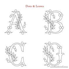 Basic Embroidery Stitches, Hand Embroidery Videos, Embroidery Sampler, Free Motion Embroidery, Embroidery Flowers Pattern, Embroidery Hoop Art, Embroidery Designs, Monogram Alphabet, Monogram Fonts