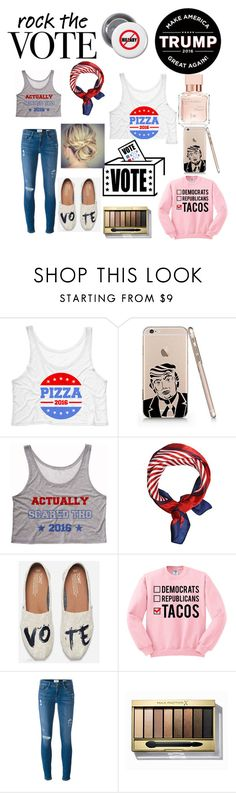 """""""Trump!!!!"""" by ekp-parker ❤ liked on Polyvore featuring Trump Home, TOMS, Frame Denim, Max Factor and Maison Francis Kurkdjian"""