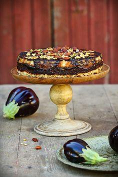Gâteau d'aubergines http://www.cuisine-campagne.com/index.php?post/2013/08/14/G%C3%A2teau-d-aubergines-libanais