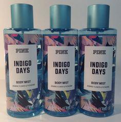 754813d80e 3 Victoria s Secret - PINK  Indigo Days Jasmine Flower Pistachio Body Mist  Spray  VictoriasSecret