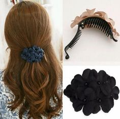 100 % New Fashion Women's Crystal Flower Rhinestone Hair Pins Hairpin Clip Barrette Cloth Clips Women Beauty Wedding/party China /girl