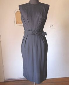 Vintage 50's Cocktail Dress, Wiggle Dress, Black, LBD, Mad Men , Rockabilly Bombshell VLV Style, Size Small on Etsy, $102.08 AUD