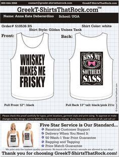 Kiss My Southern Sass Tank  http://www.greekt-shirtsthatrock.com/