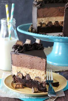 Peanut Butter Chocolate Mousse Cake!