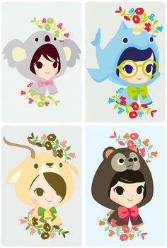super cute :O~~  #illustration