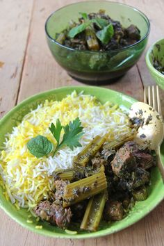 Khoresht-e Karafs - Persian Cattle Stew with Jam .- Khoresht-e Karafs – Persian beef stew with celery in Verjus parsley mint sauce - Healthy Eating Tips, Healthy Nutrition, Middle East Food, Bean Stew, Oriental Food, Vegetable Drinks, Easy Salads, International Recipes, Food Photo