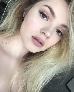 Beautiful nude makeup look. Great for a date!