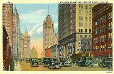 1920s chicago   POSTCARD – CHICAGO – MICHIGAN BLVD – LOOKING NORTH – 1920s ...