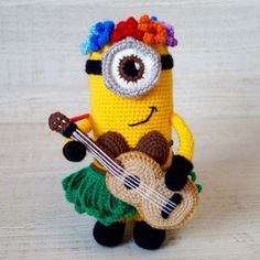 Now you don't need to look for a toy in a store or order online, because you can crochet minion by yourself! Use this free Hawaiian Minion crochet pattern.