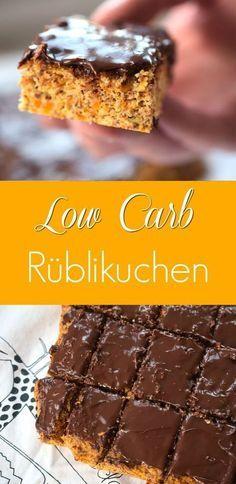 Low Carb Rüblikuchen für einen Genuss ohne Reue. Dieser zuckerfreie Karottenkuchen schmeckt besonders gut mit Nutella ohne Zucker. Low Carb Backen ganz einfach.
