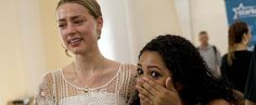 Amber Heard Cries as She and Johnny Depp Hand Out Hearing Aids in Brazil. Such a kind act.