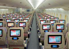 Système de divertissement ICE d'Emirates en classe Economique sur Airbus A380 - © Emirates