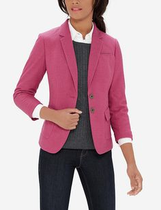 Colorful Flap Pocket Blazer - another fabulous blazer in color and style!