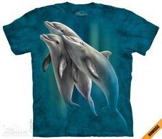 Three Dolphins - T-Shirt The Mountain - koszulka z delfinami - www.veoveo.pl