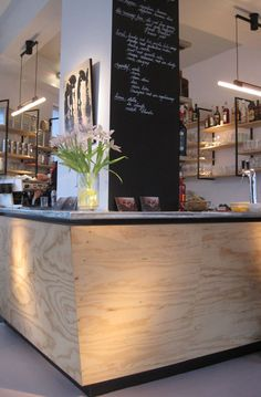 another plywood style bar. Could also work with a concrete worktop