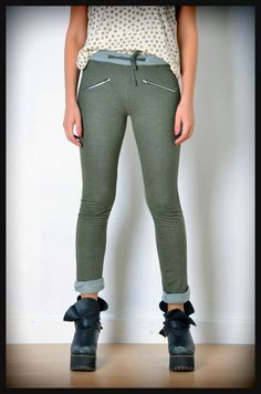 calza pantalon rustico verde