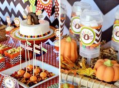Cute Thanksgiving party decorations