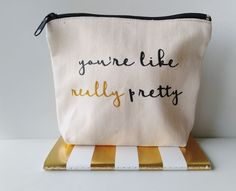 Handmade Canvas Makeup Bag Youre Like Really Pretty Bridesmaid Gift Makeup Pouch Canvas Pouch Cosmetic Pouch Cosmetic Bag Makeup Organizer Bridesmaid Pouch Bridesmaid Makeup Bridesmaid Gift Makeup Pouch, Cosmetic Pouch, Makeup Bags, Makeup Ideas, Makeup Tools, Makeup Inspiration, Bridesmaid Makeup, Bridesmaid Dress, Youre Like Really Pretty