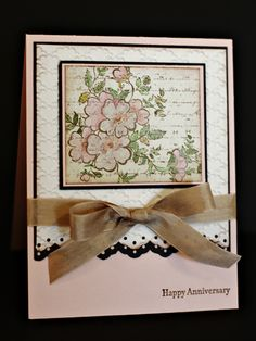 Rose Colored Anniversary by Chautona - Cards and Paper Crafts at Splitcoaststampers