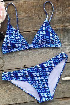 f56ac8b9c0b76f Cupshe Deep Water Ocean Bikini Set Maillot De Bain, Mode, Bikini, Bikini  Pour