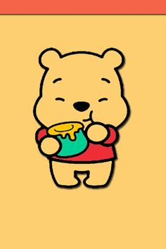 Winnie the Pooh Cute Disney Wallpaper, Emoji Wallpaper, Wallpaper Iphone Disney, Cute Cartoon Wallpapers, Cute Winnie The Pooh, Winne The Pooh, Cute Disney Drawings, Cute Drawings, Disney Minimalista