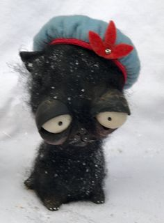 On hold for mildredSailor cat Ooak art doll