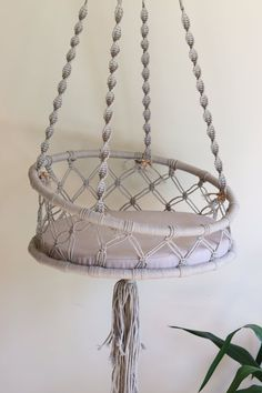 Cat bed, macrame cat hammock, pendant bed for cat, pendant cat house - Cat bed macrame cat hammock pendant bed for Diy Cat Hammock, Hammock Bed, Design Patio, Macrame Wall Hanging Diy, Creation Deco, Cat Room, Macrame Design, Macrame Projects, Pet Beds