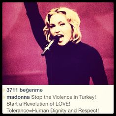 Madonna is with us. What about you? #occupygezi #direngeziparki