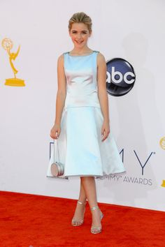 Emmy Awards 2012: Kiernan Shipka looked adorable in a metallic fit-and-flare dress.  #Emmys