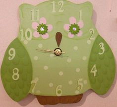 Owl clock for Aurora's new room