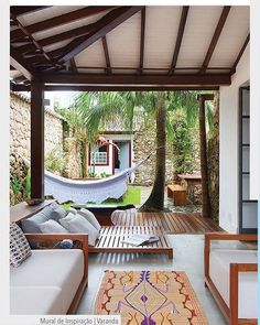Home Decoration - Ideas Outdoor Rooms, Outdoor Living, Outdoor Decor, Indoor Outdoor, Interior And Exterior, Interior Design, Exterior Paint, Decoration Inspiration, My Dream Home