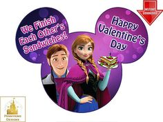 Frozen Valentine's Day Anna Hans We Finish Each by Pennyring