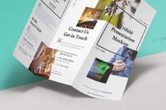 An original perspective psd trifold mock-up template to showcase your next brochure project. Thanks to the smart layer easily add your...
