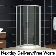 800x800/900x900mm Quadrant Shower Enclosure Corner Cubicle Glass Door Stone Tray