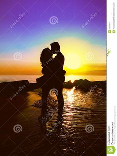 Couple Kissing On The Beach - Download From Over 60 Million High Quality Stock Photos, Images, Vectors. Sign up for FREE today. Image: 93210543
