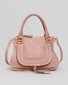 Chloe Marcie Medium Satchel, Pink - Neiman Marcus