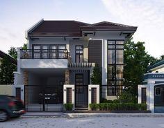 Gambar desain rumah 2 lantai lebar 7 meter