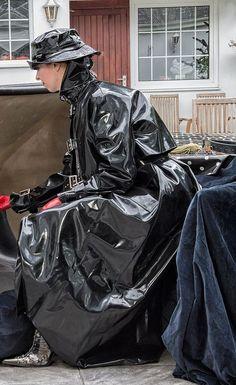 Black Raincoat, Raincoat Jacket, Black Mac, Rubber Dress, Vinyl Raincoat, Rubber Raincoats, Rain Gear, Unisex, Black Rubber