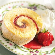 Strawberry and Peanut Butter Cream Cake Roll Recipe - Allrecipes.com