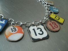lucky number 13 bracelet by southernheidibelle on Etsy, $65.00